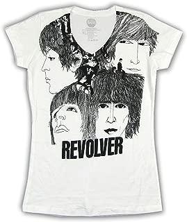 Beatles Revolver Album Art Girls Juniors White T Shirt