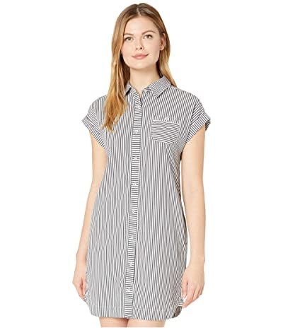 Vineyard Vines Seersucker Margo Shift Dress (Jet Black) Women