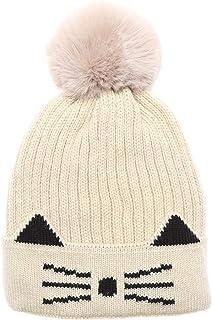 قبعات MIRMARU للأطفال والبنات والأولاد ناعمة ودافئة للشتاء محبوكة لطيفة مع فرو صناعي بوم بوم وبطانة شيربا للأعمار 3-6