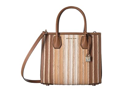 MICHAEL Michael Kors Mercer Medium Accordion Convertible Tote (Acorn Multi) Handbags