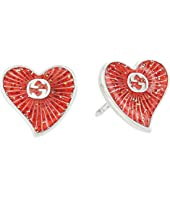 Gucci - Enameled Heart Earrings