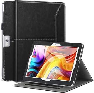 Dragon Touch K10 ケース(NotePad 102に対応しない)/Max10 ケース/Note Pad K10 Ztotop/Victbing 10.1, ZONKO 10.1 多角度 レザー ポケット付き バンド付き ペンホルダ...