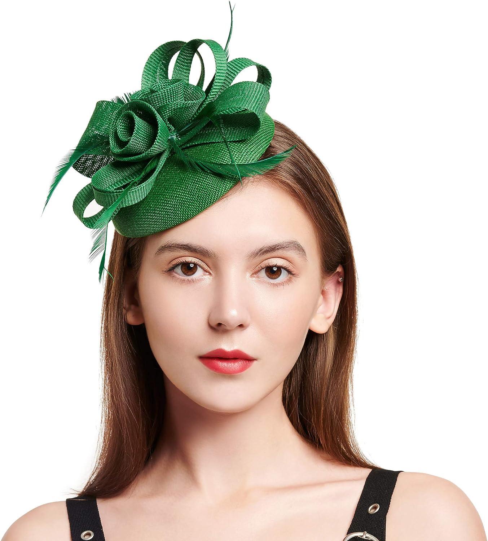 C.Garopl Fascinators Hats Women Vintage Wedding Fashion Headband Clip Church Cocktail Dresses Headwear Tea Party