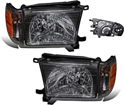 SPPC Headlights Black Assembly with Corner Light for Toyota 4 Runner - (Pair) Includes Driver Left and Passenger Right Side Replacement Headlamp