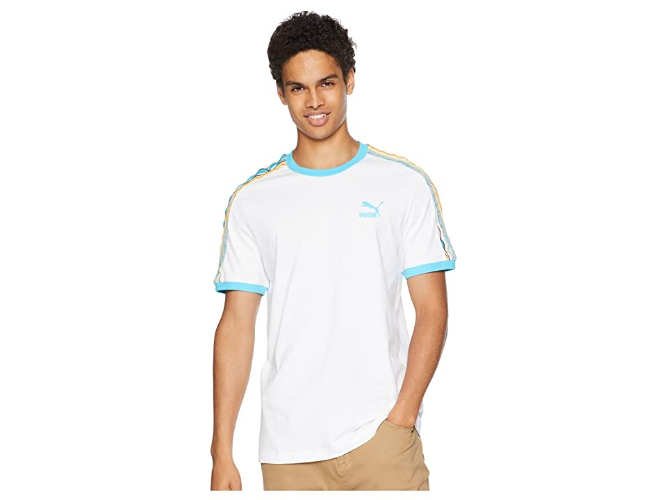 PUMA PUMA x Coogi Archive T7 T-Shirt (Puma White/Blue Atoll) Men