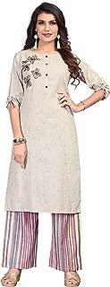 Vbuyz Women's Cotton Straight Kurti with Palazzo Set