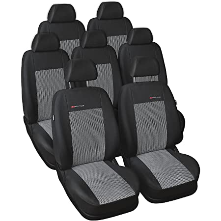 Gsc Sitzbezüge Komplettset 7 Sitze Maßgefertigt Kompatibel Mit Ford Galaxy Iii 2006 Auto