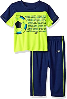 New Balance Baby-Boys Athletic Tee and Pant Set Pants Set - Yellow