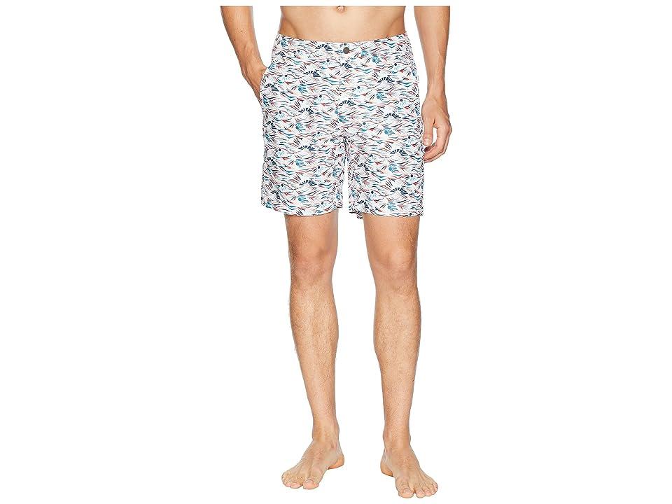 onia Calder 10 Diamond Wave Swim Trunk (Grenadine/White) Men