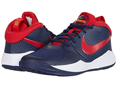 Nike Kids Team Hustle D 9 (Big Kid) (Midnight Navy/University Red/White) Kids Shoes