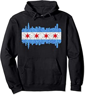 City Of Chicago Hoodie - Chicago City Flag Vintage Hoodie