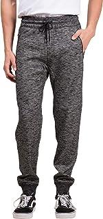 Men's Fleece Jogger Pants Active Zipper Pocket Sweatpants