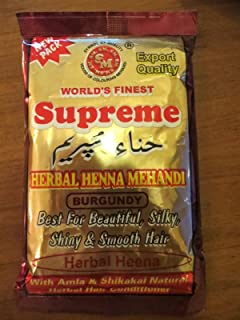 3x 150g SUPREME HERBAL HENNA Powder BURGUNDY Hair Color
