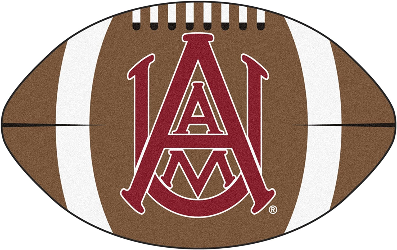 FANMATS NCAA Alabama A&M Bulldogs Nylon Face Football Rug