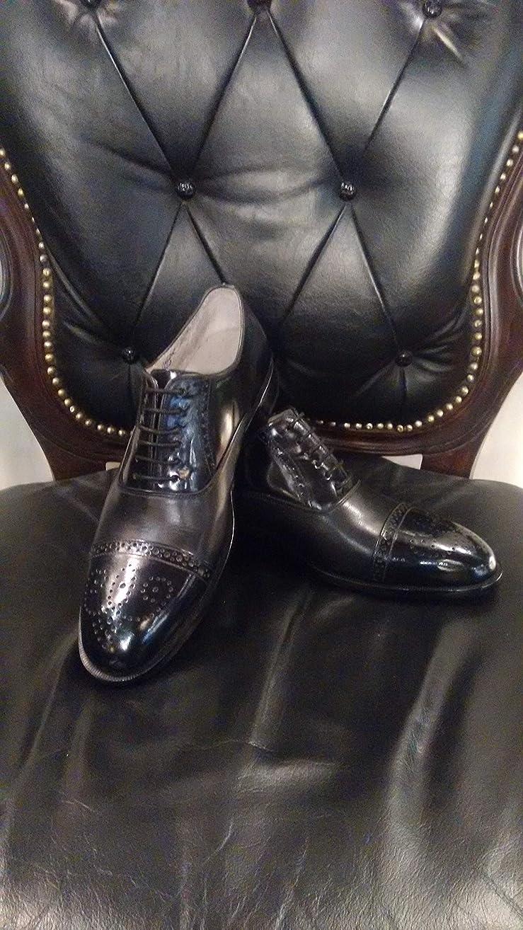Handmade Black Lace Up Oxfords For Men Custom Made Shoes for Men