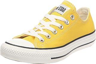converse basse femme jaune
