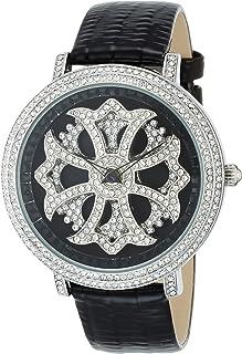[ブルッキアーナ]BROOKIANA スピンウォッチ ジルコニアストーン クオーツ ブラック×ブラックレザー BA2310-SVBK 腕時計