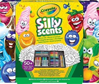 Crayola Silly Scents Mini Inspiration Art Case Coloring Set, Gift for Kids Age 3+