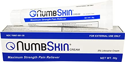 Best New Numbskin Numbing Cream 5% Lidocaine Topical Anesthetic– Fast Acting Tattoo Numbing Cream for Deep Pain Relief & Numbing Cream for Microneedling/Piercing/Microblading/Laser Hair Removal (1 tube) Review