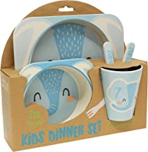 Gourmet Home Products 197998 5-Piece Kids Dinner Set, Elephant