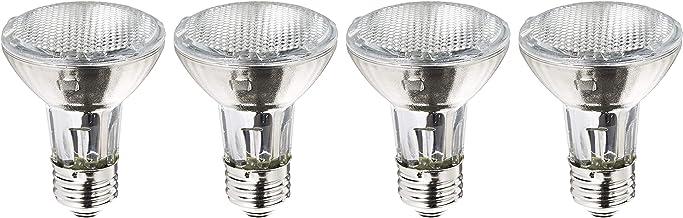 Philips Halogen Dimmable PAR20 Flood Light Bulb: 2900-Kelvin, 39-Watt (50-Watt Equivalent), E26 Medium Screw Base, Soft White, 4-Pack