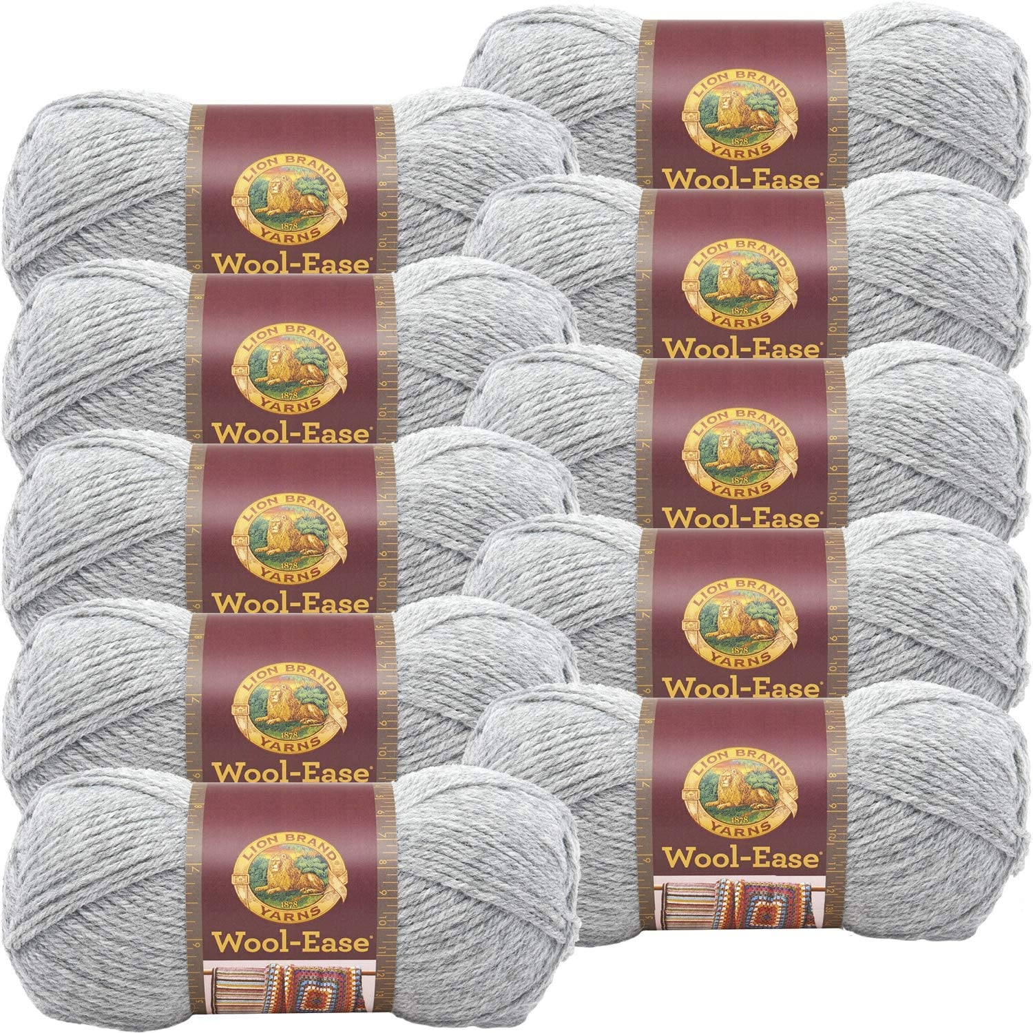 SEAL limited product Lion Brand Wool Ease Yarn-10 Pk-Grey 10 Heather Grey Pk Pac 100% quality warranty
