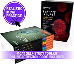 MCAT Self-Study Toolkit 2021-2022: Complete 7-Book Subject Review + 6 Practice Tests + Adaptive Qbank (Kaplan Test Prep)