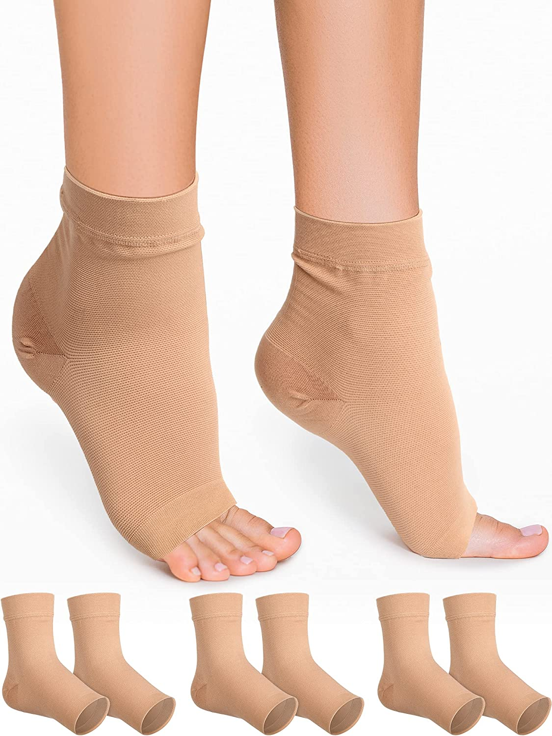 3 Pairs Latest item Ankle Compression Max 43% OFF Sleeve Socks Women for Men mmHg 23-35