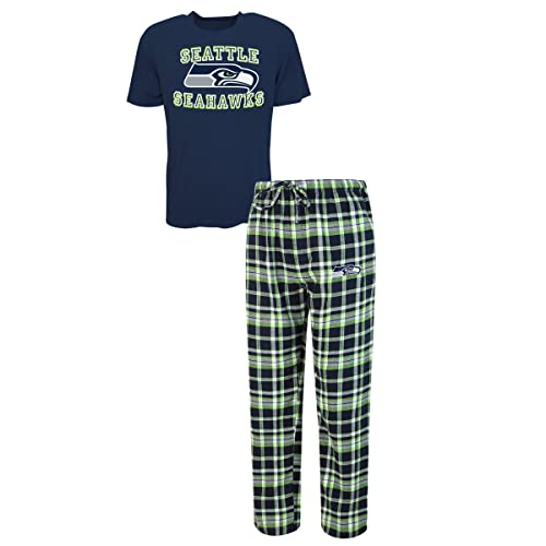 d57dd193e7 Concepts Sport Seattle Seahawks NFL Medalist Men s T-Shirt   Flannel Pajama  Pants Sleep Set