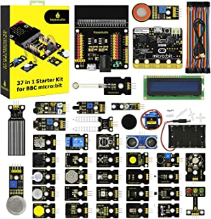 KEYESTUDIO 37 in 1 Sensor Kit for BBC Micro:bit w/Controller Board, Tutorial for Beginners and Kids to Learn Electronics f...