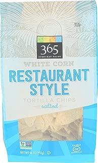 365 Everyday Value, White Corn Tortilla Chips, Restaurant Style, Salted, 14 oz