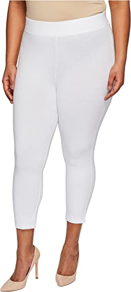HUE - Plus Size Temp Control Cotton Capris
