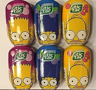 The Simpsons Limited Edition Tic Tac Mints Six Jumbo Packs