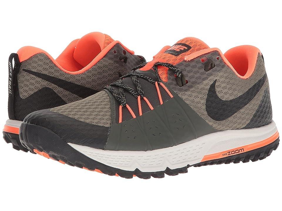 Nike Air Zoom Wildhorse 4 (Medium Olive/Black/Total Crimson/Sequoia) Men