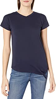 French Toast Junior's Short Sleeve V-Neck Side Knot Tee