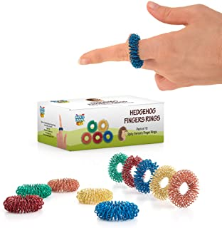 Stress Relief Fidget Sensory Toys Set �10 Small Quiet Metal Antistress Fingers Rings For Men, Women, Adults, Teens & 5+ Children � Ideal For People With OCD, ADHD, ADD & Autism Sensory Desk Games