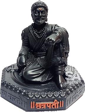S A GIFTS Sai Amrut Chhatrapati Shivaji Maharaj The Legend of Maharashtra Statue Matte Finish (3.5 Inch)