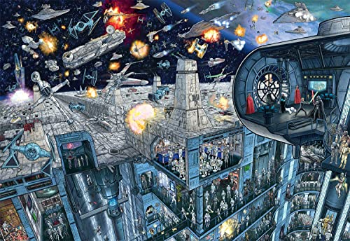 new arrival Star Wars - Search Inside: Death Star - 2000 Piece Jigsaw Puzzle online with Hidden wholesale Images sale
