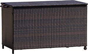 Christopher Knight Home 238417 Freeport Brown Wicker Outdoor Storage Deck Box