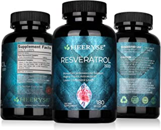 HEEYRSE Trans-Resveratrol 1500 mg per Serving High Purity Trans Resveratrol Compound Plant Extract Per Serving,Antioxidant...