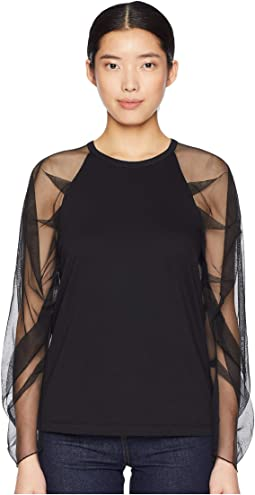 Sheer Long Sleeve Top