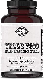 Whole Food Multivitamin for Women & Men | Multivitamin Mineral Blend w/ Whole Fruits & Veggies, Folic Acid, Iron & Zinc | ...