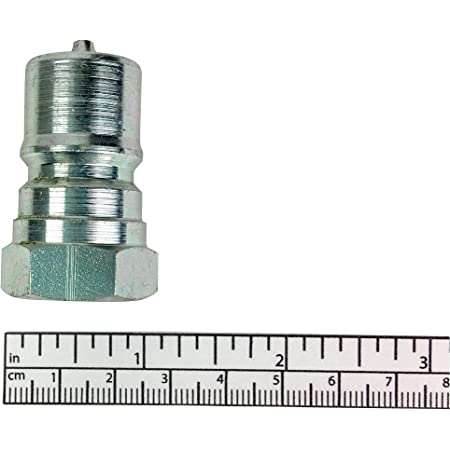Steel Coupler Nipple 3//4-14 3//8 in Body
