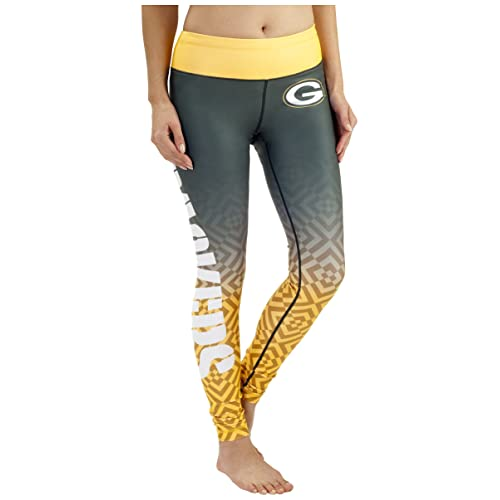 Green Bay Packers Zubaz Adult Leggings Green//Yellow