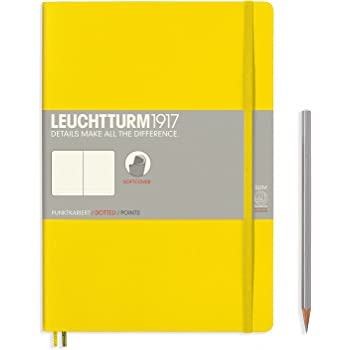 Leuchtturm1917 Softcover B5 Dotted Notebook- 121 Numbered Pages, Lemon