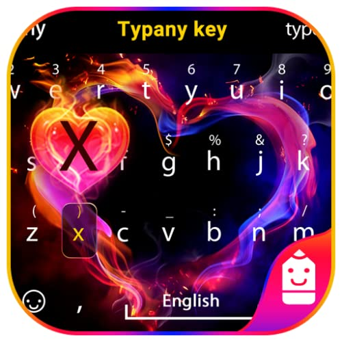 Love Heart Theme&Emoji Keyboard