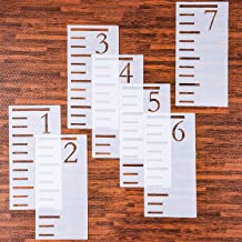 reusable growth chart stencil