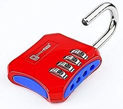 Cijferslot met 4-cijferig combinatieslot voor kluisje, fitnessstudio, school, bergruimte, raster, omheining/hangslot met c...