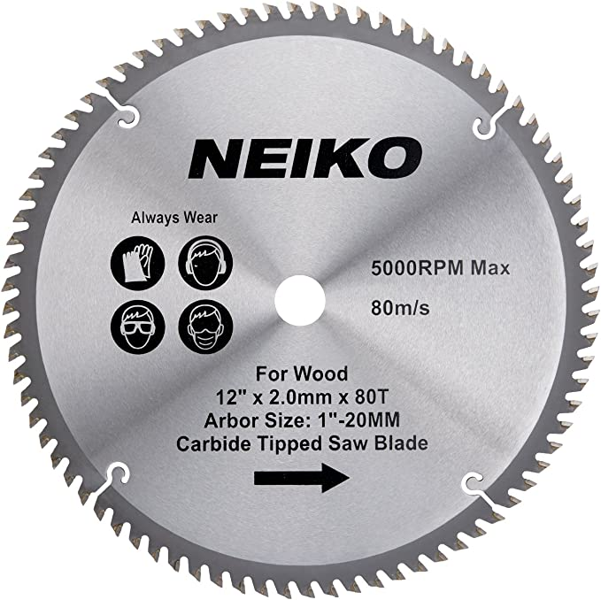 NEIKO 10768A 12-Inch Carbide Saw Blade - The Best Durable Blades