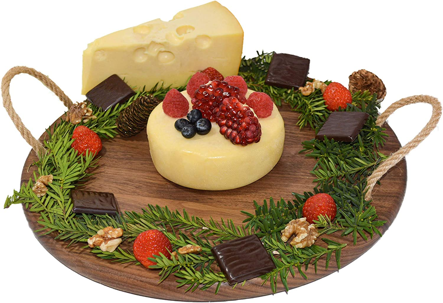 Organic OFFicial mail order Black Walnut Wood Cheese Max 86% OFF Board 14